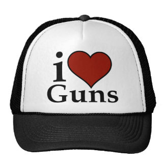 Pro Second Amendment: I Heart Guns Trucker Hat