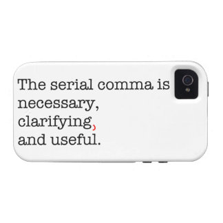 Pro-Serial Comma iPhone 4/4S Covers