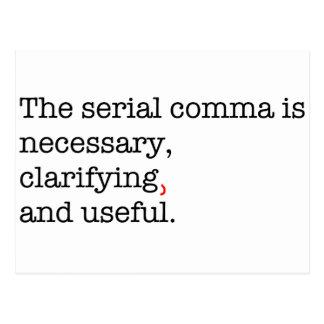 Pro-Serial Comma Postcard