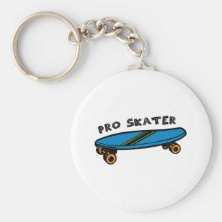 Pro Skater Basic Round Button Keychain