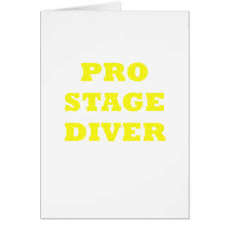 Pro Stage Diver Card