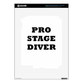 Pro Stage Diver iPad 3 Decal