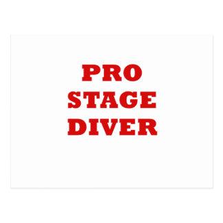 Pro Stage Diver Postcard