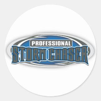 Pro Storm Chaser Classic Round Sticker