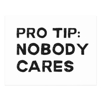 Pro Tip Nobody Cares Postcard