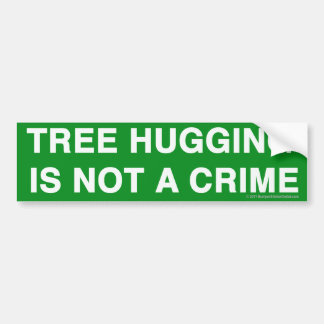Pro-Treehugging sticker Car Bumper Sticker