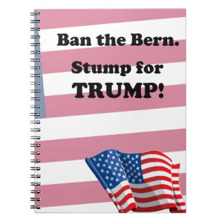 Pro Trump message Spiral Notebook
