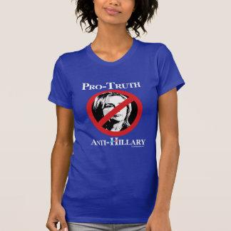 Pro-Truth Anti-Hillary - Anti Hillary png white -  T-Shirt