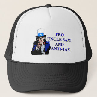 Pro Uncle Sam and anti tax. Trucker Hat