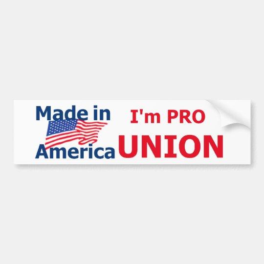 PRO UNION Bumper Sticker