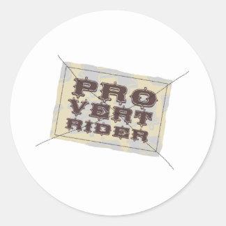 Pro Vert Rider Classic Round Sticker