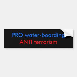 PRO water-boarding Bumper Sticker