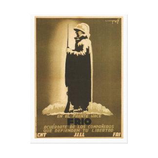 Pro winter campaign_Propaganda Poste Canvas Print