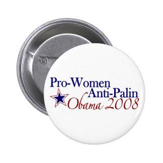 Pro Women Anti Palin (Obama 2008) 2 Inch Round Button