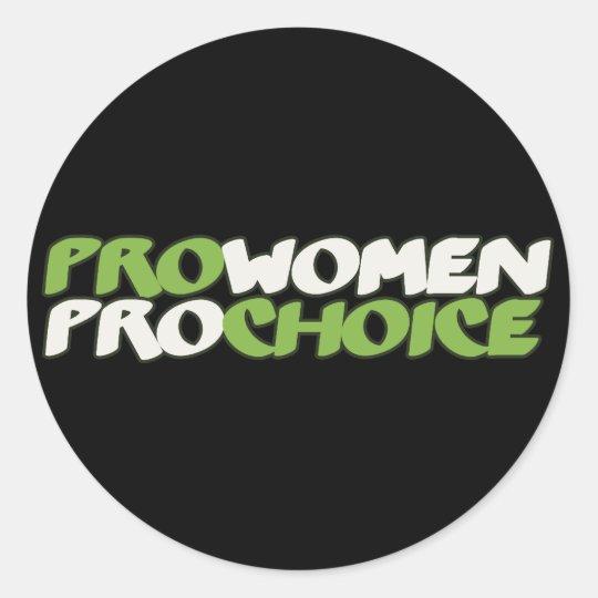 Pro Women Prochoice Classic Round Sticker