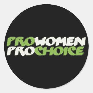 Pro Women Prochoice Round Stickers