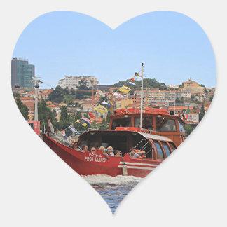 Proa Douro boat, Porto,Portugal Heart Sticker