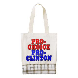 Proabortista, favorable-Clinton Bolsa Tote Zazzle HEART