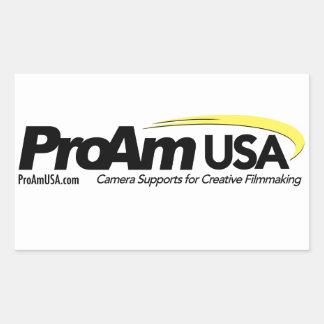 ProAm USA Logo Rectangular Sticker