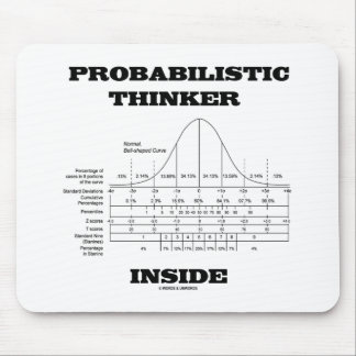 Probabilistic Thinker Inside (Bell Curve Humor) Mouse Pad