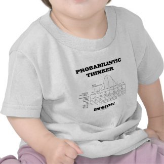Probabilistic Thinker Inside (Bell Curve Humor) T Shirt