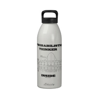 Probabilistic Thinker Inside (Bell Curve Humor) Water Bottle