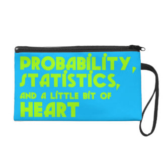 Probability, Statistics, & a Little Bit of Heart Wristlet Purse