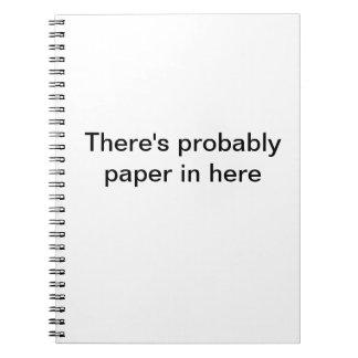 Probablemente papel libreta