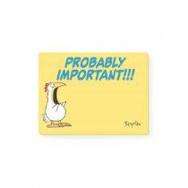 PROBABLY IMPORTANT Panic Chicken by Sandra Boynton Post-it Notes