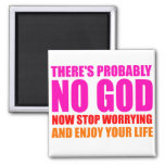 Probably No God 2 Inch Square Magnet
