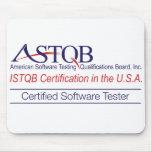 Probador certificado ASTQB Mousepad del software Tapete De Ratones