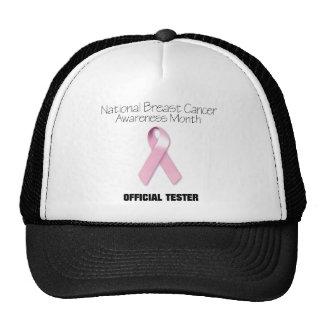 Probador oficial 1 del cáncer de pecho gorro de camionero