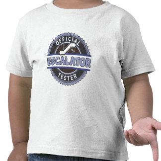 Probador oficial de la escalera móvil - azul camisetas
