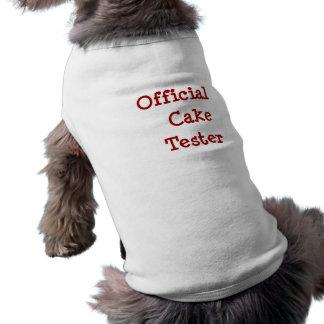 Probador oficial de la torta - camiseta del perro camisas de perritos