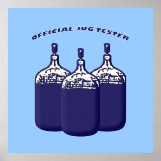 Probador oficial del jarro poster