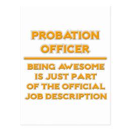 Probation Officer .. Job Description Postcard