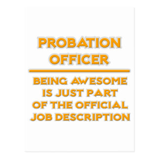 Probation Officer .. Job Description Postcard