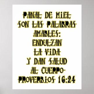 Proberbios 16:24 poster