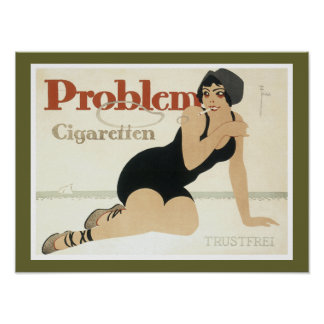 Problem Cigaretten Advertisement Poster