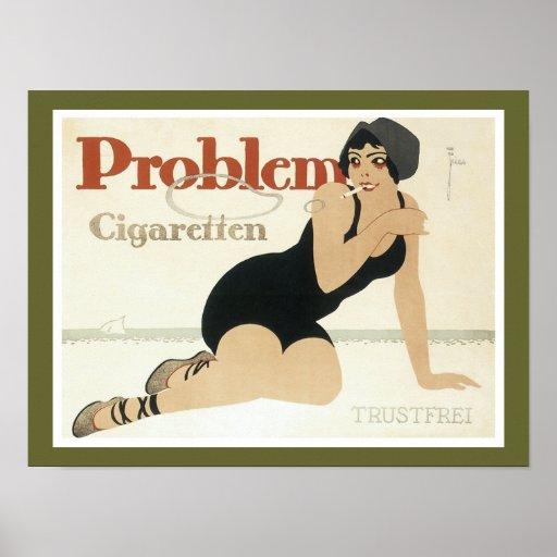 Problem Cigaretten Advertisement Print