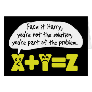 Problem Funny Math Greeting Cards
