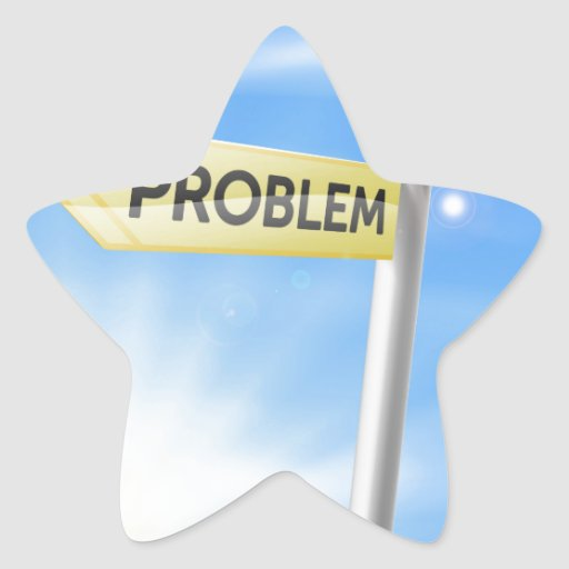 Problem solution sign concept star stickers