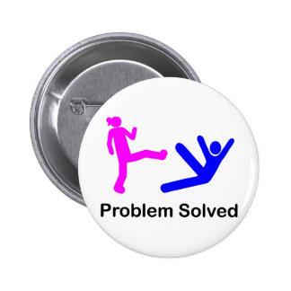 Problem Solved 2 Inch Round Button