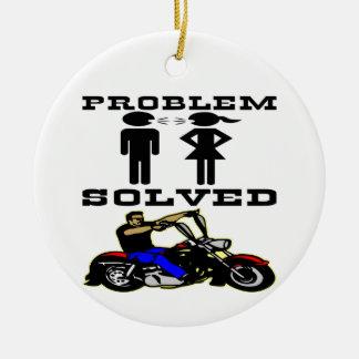 Problem Solved Biker #002 Christmas Ornaments