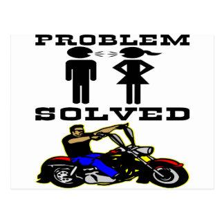 Problem Solved Biker #002 Postcard
