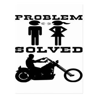 Problem Solved Biker #003 Postcard