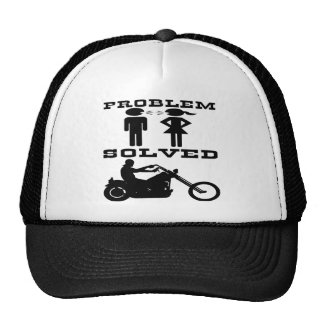 Problem Solved Biker #003 Trucker Hat