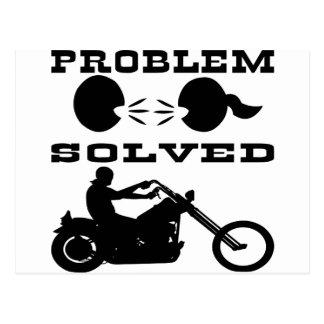 Problem Solved Biker #004 Postcard
