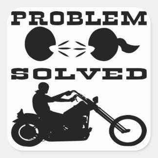 Problem Solved Biker #004 Square Sticker