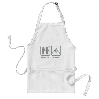 Problem Solved Cycling Adult Apron